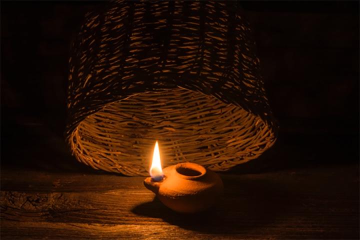 Light under a bowl